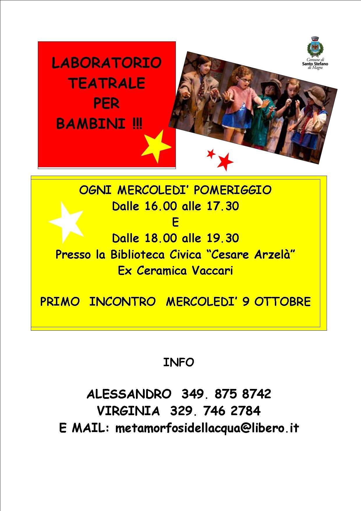 Guarda questa foto sull'evento Corsi di teatro per bambini e adulti a Santo Stefano di Magra